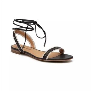 LUCKY BRAND Toree Flat Ankle Strap Sandals, 7.5